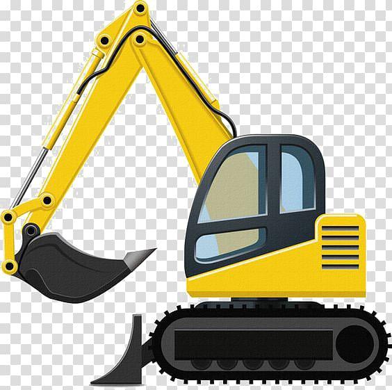 Inc backhoe transparent . Excavator clipart excavator caterpillar