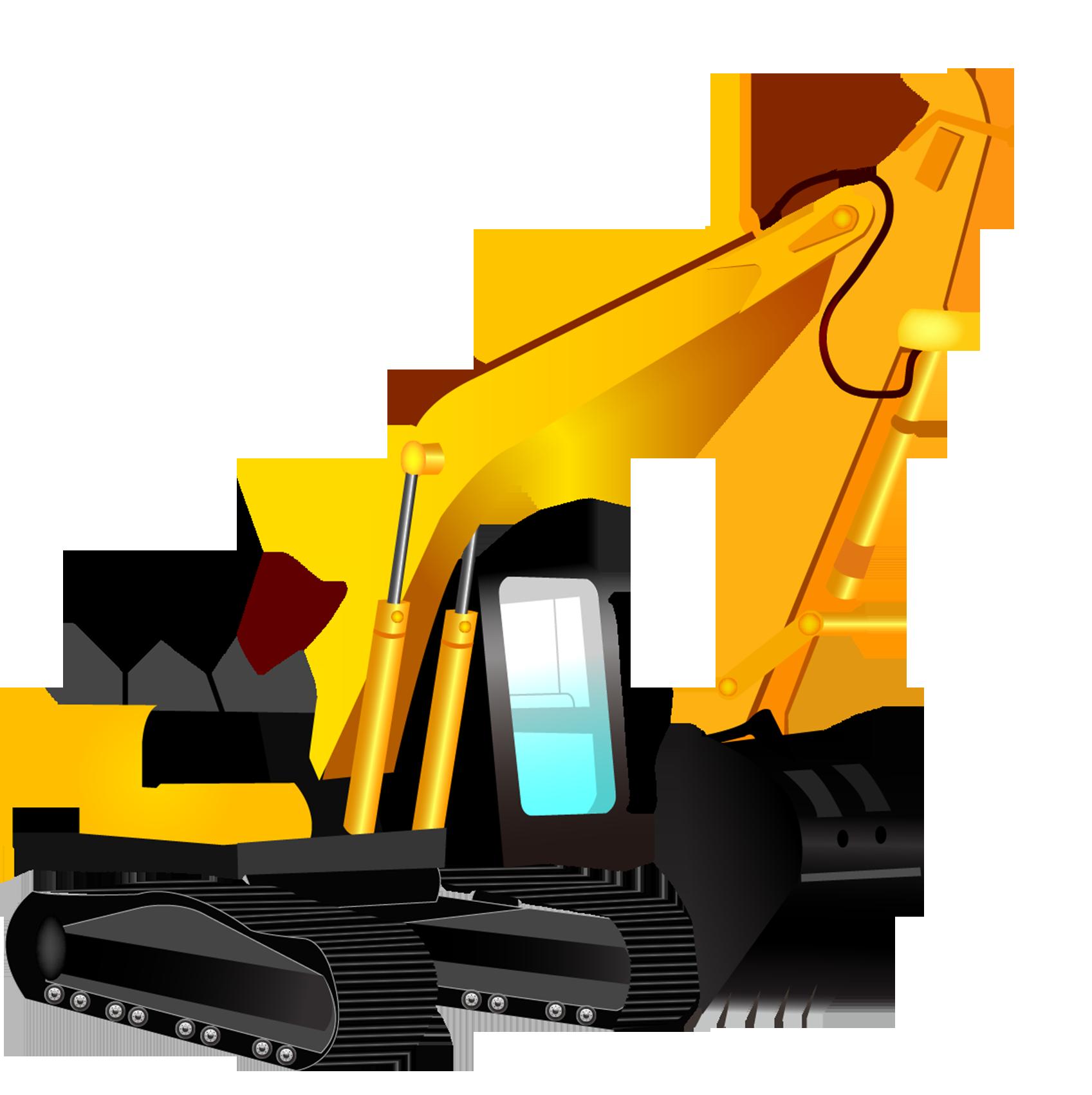 Inc backhoe bulldozer cartoon. Excavator clipart excavator caterpillar