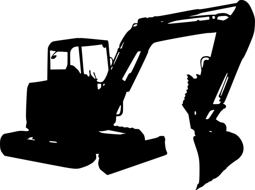 Excavator clipart file. Silhouette png free images