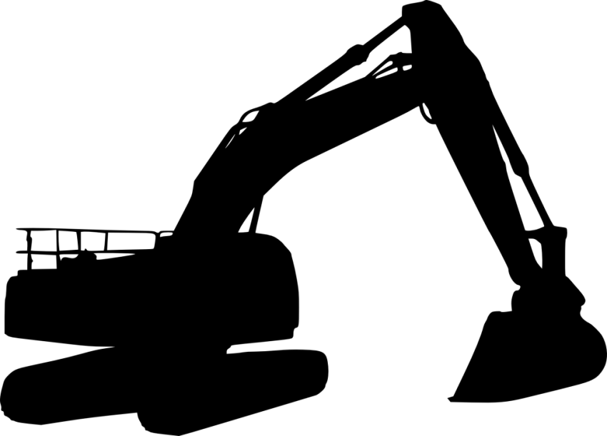 Silhouette png free images. Excavator clipart file
