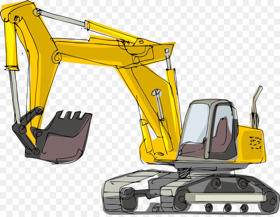 Cartoon illustration . Excavator clipart gambar