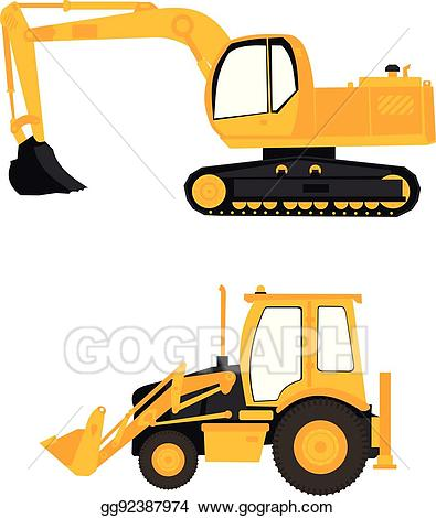 Clip art vector construction. Excavator clipart heavy equipment