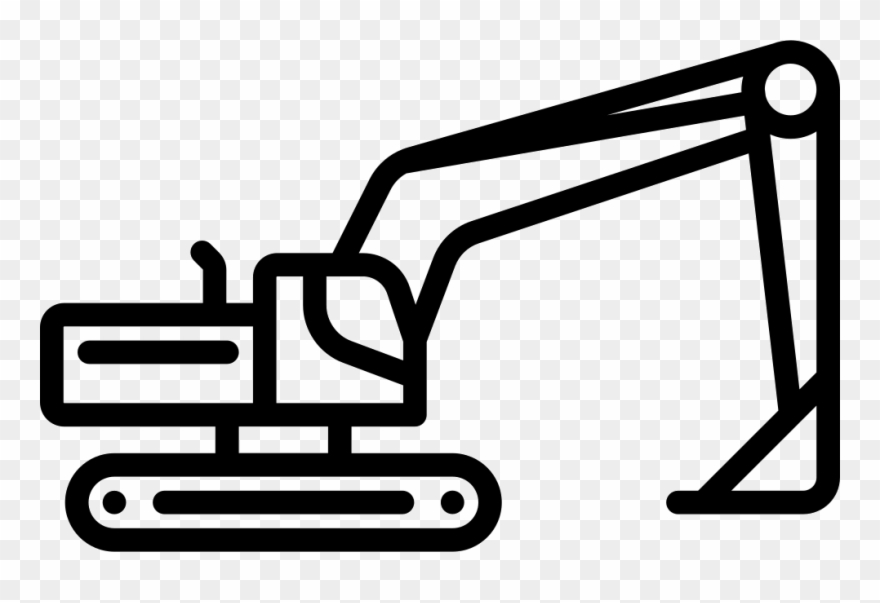 Excavator clipart icon. Svg png free download