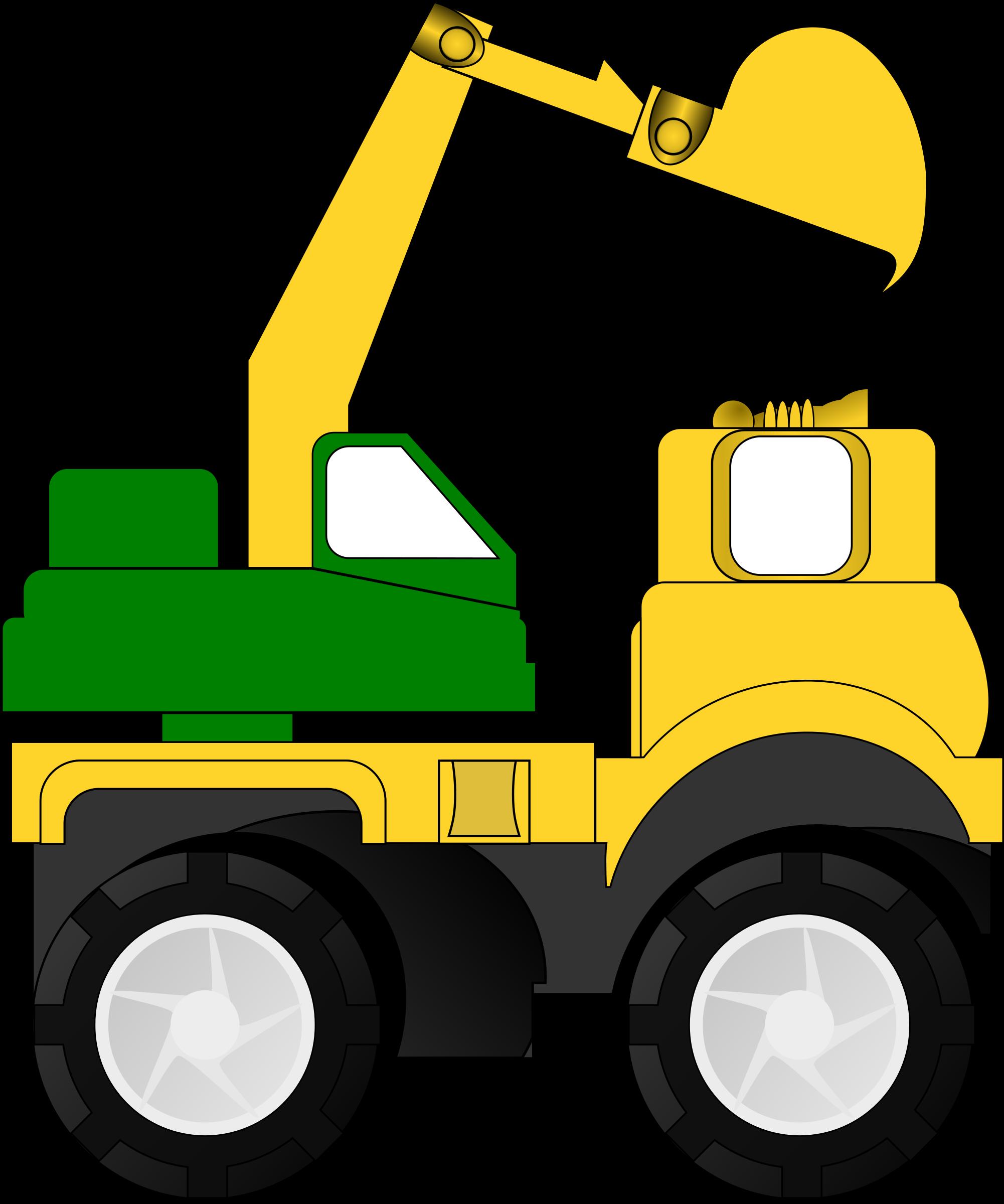 Retroexcavadora icons png free. Excavator clipart icon