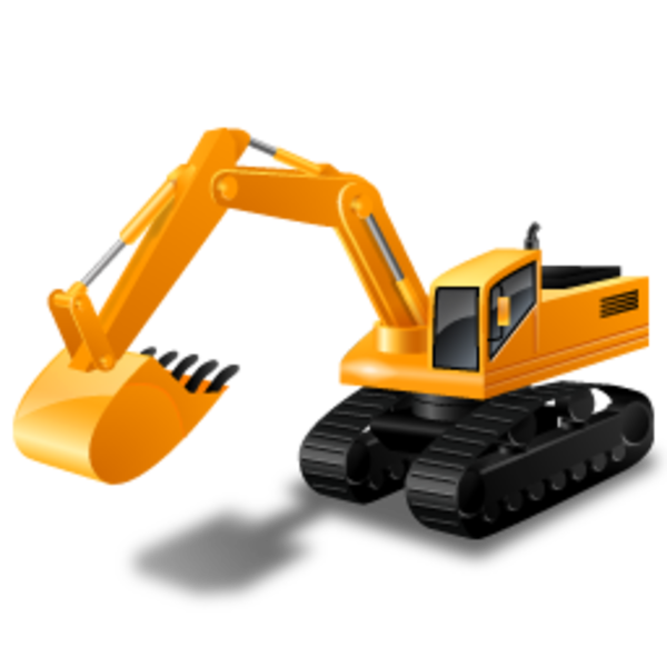 Excavator clipart icon. Free images at clker