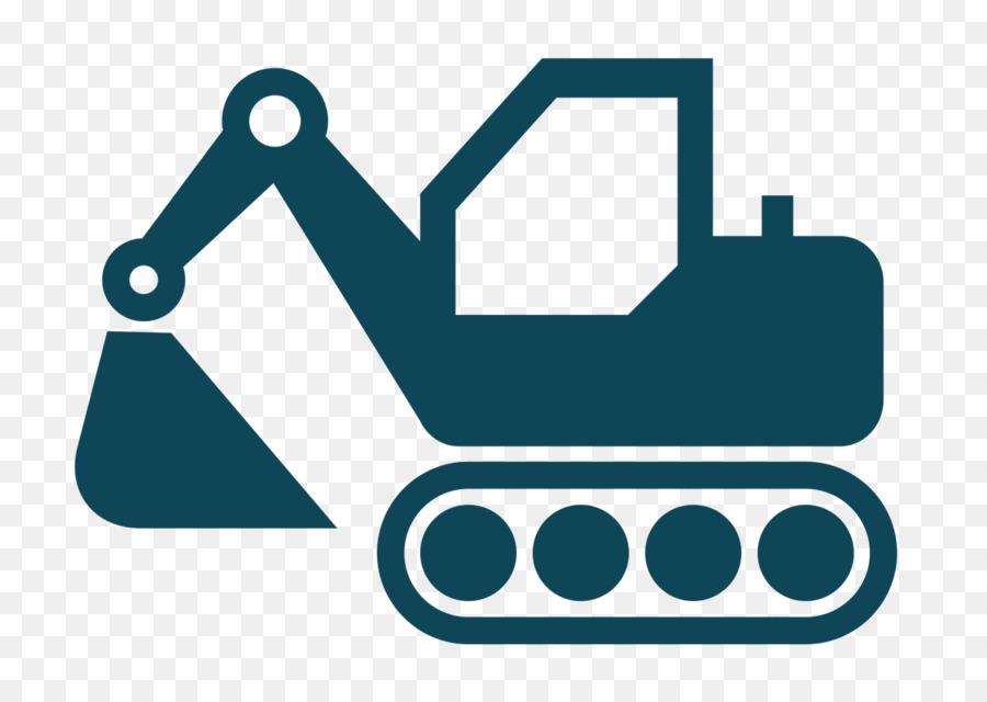Excavator clipart icon. Heavy machinery computer