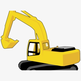 Free yellow digger equipment. Excavator clipart logo