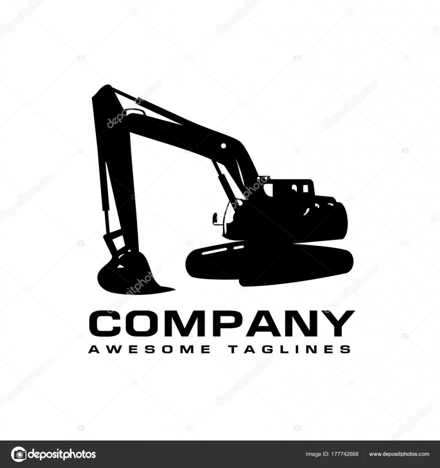 Download stock illustration heavy. Excavator clipart logo