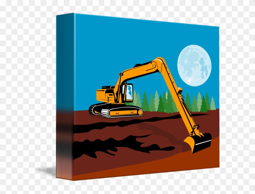 Png black and white. Excavator clipart mechanical