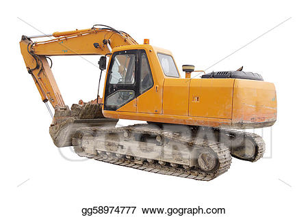Excavator clipart mechanical. Drawing construction digger