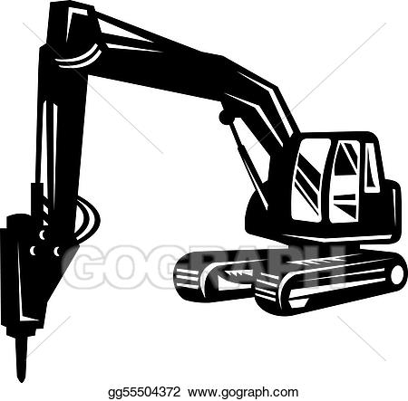 Stock illustration mechanical or. Oil clipart digger