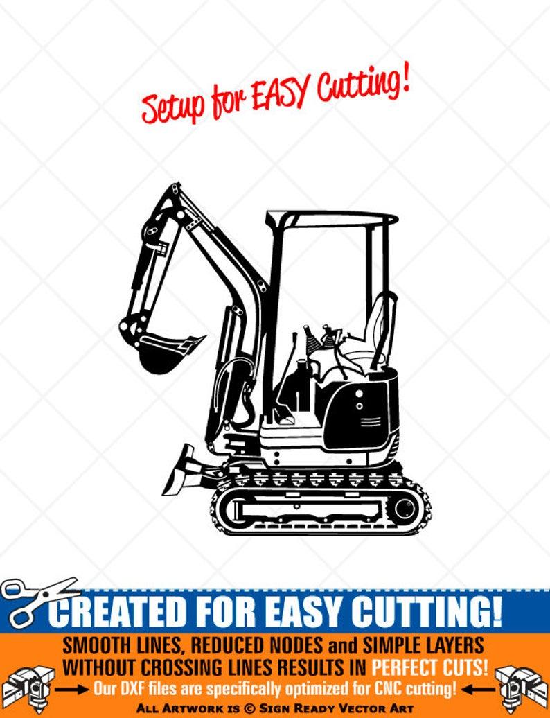 Detailed vector clip art. Excavator clipart mini excavator