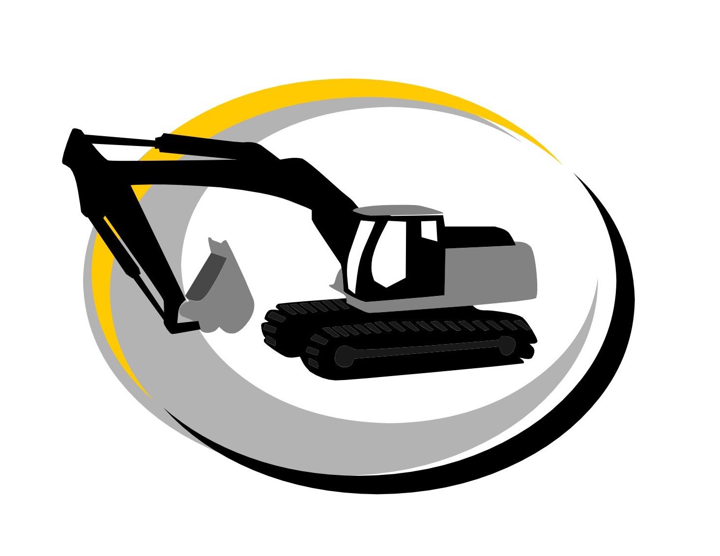 Digger hire tmr building. Excavator clipart mini excavator
