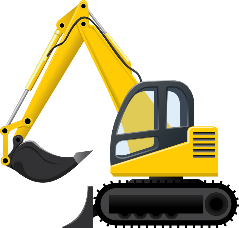 Bucket frames illustrations hd. Excavator clipart mounted