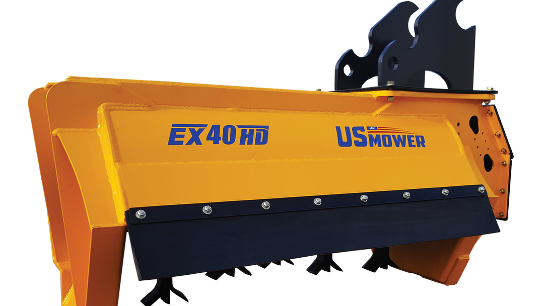 Us mower flail attachments. Excavator clipart mounted