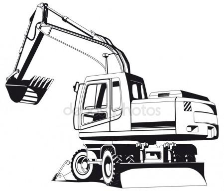 Excavator clipart outline. Free download best on