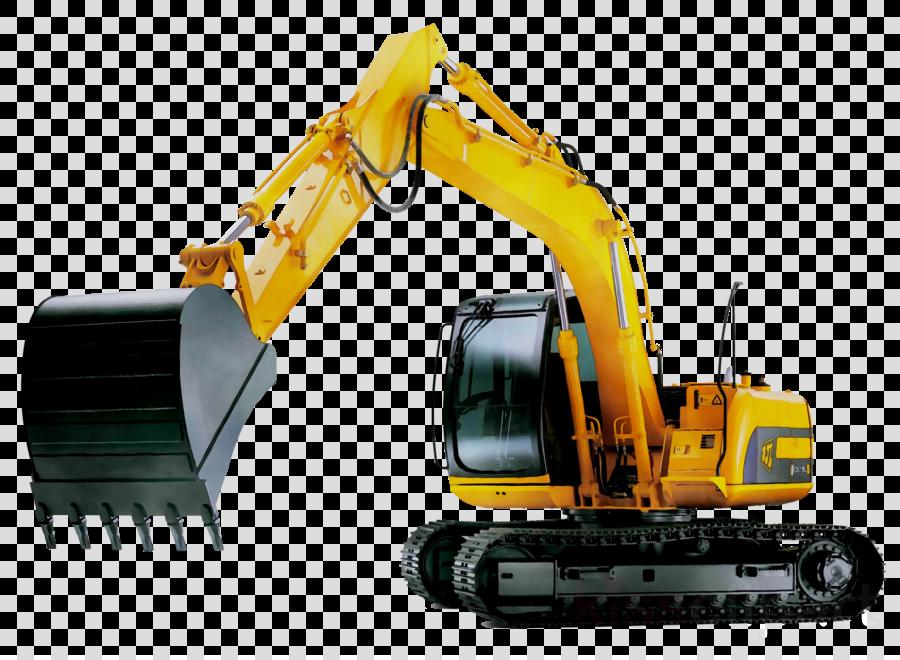 Excavator clipart plant machinery. Engineering cartoon construction