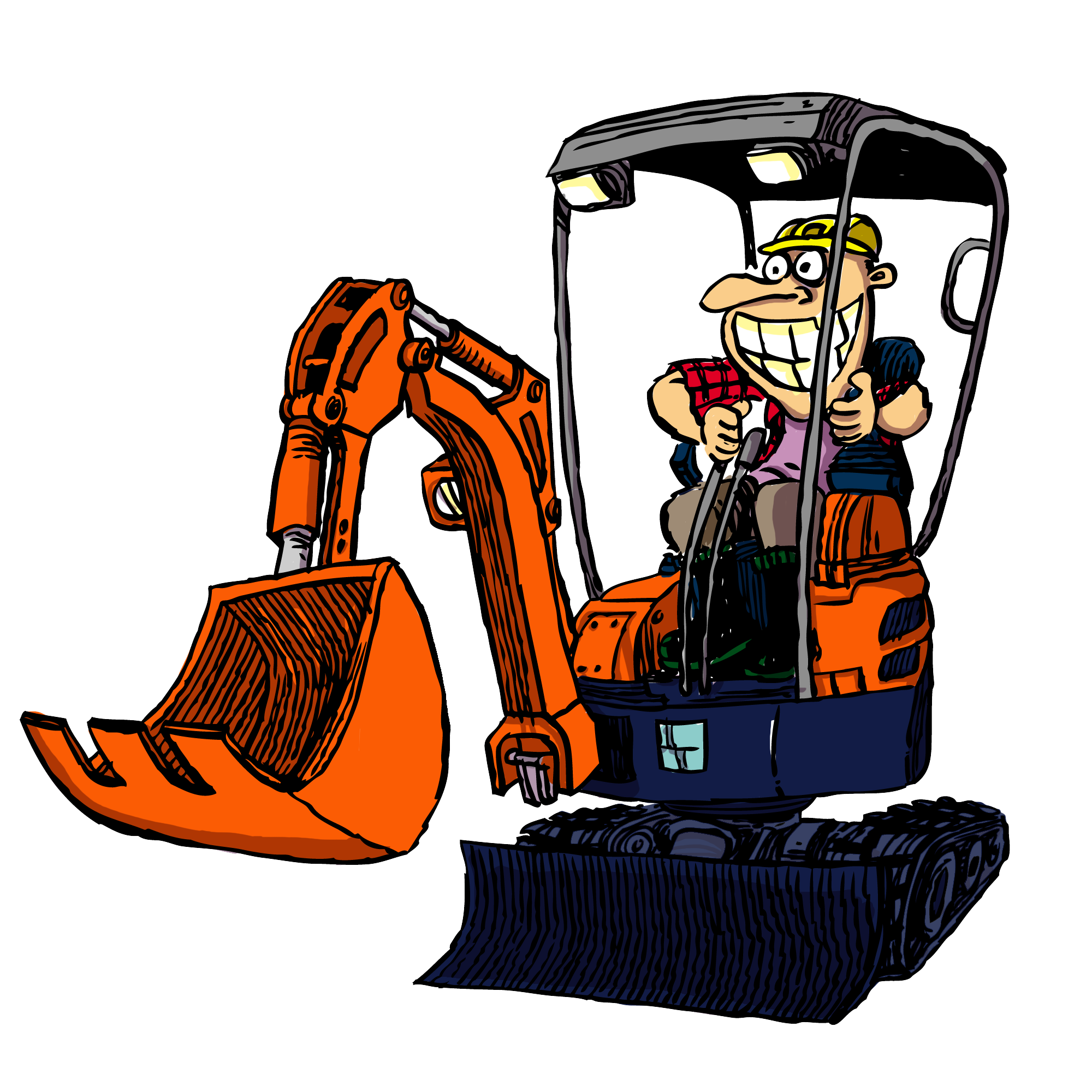 Excavator clipart plant machinery. Diggermate mini hire gold