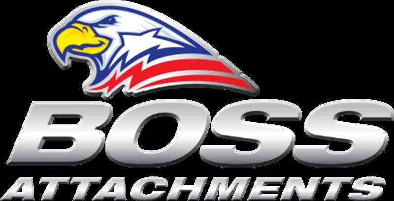 Boss attachments logo. Excavator clipart rock quarry
