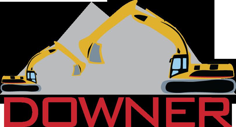 Downer contracting . Excavator clipart rock quarry