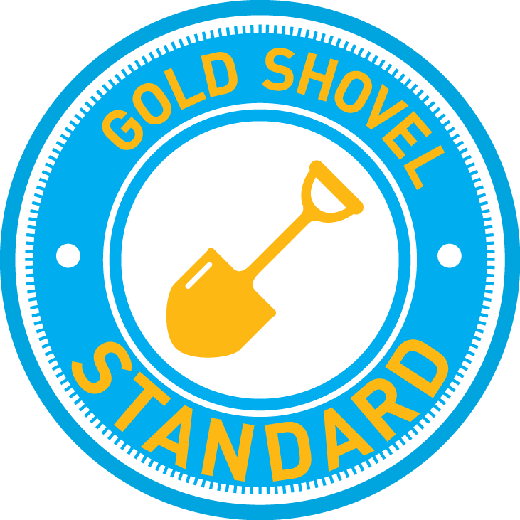 Gold standard welcomes con. Excavator clipart shovel