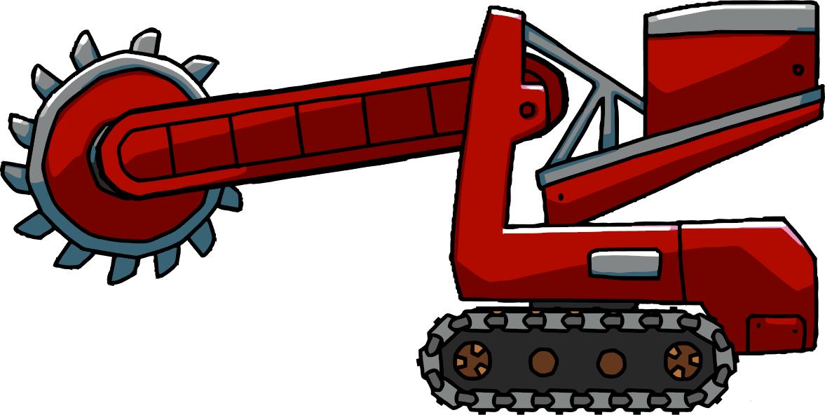 Excavator clipart shovel. Bucket wheel scribblenauts wiki