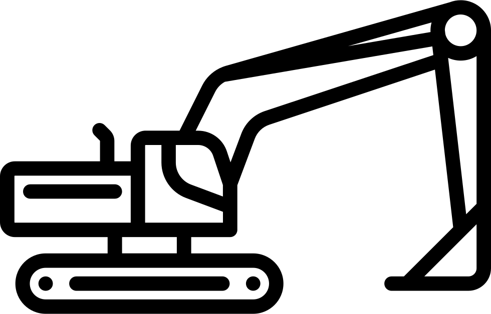 Svg png icon free. Excavator clipart side