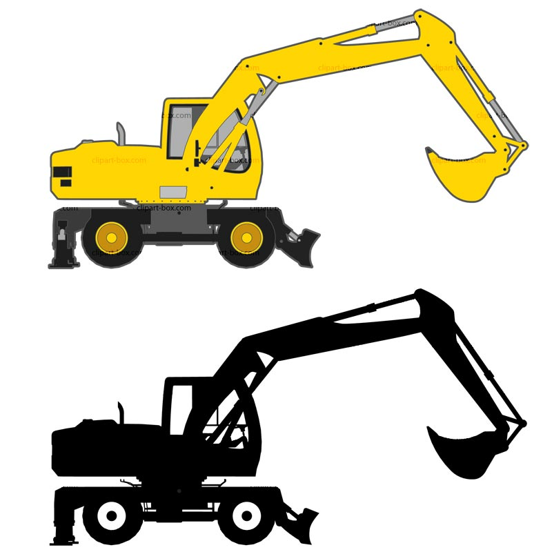 Excavator clipart side. Resolution caterpillar