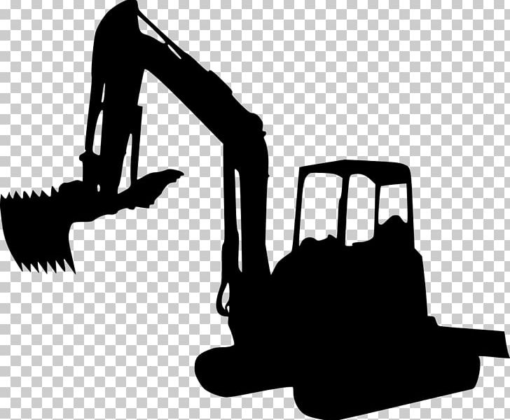 Excavator clipart silhouette. Caterpillar inc png backhoe