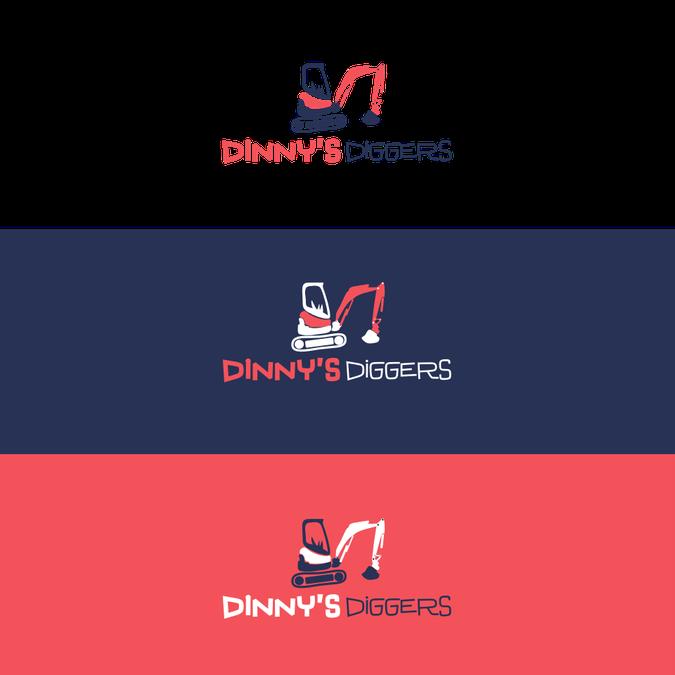 Excavator clipart simple. Logo design for a