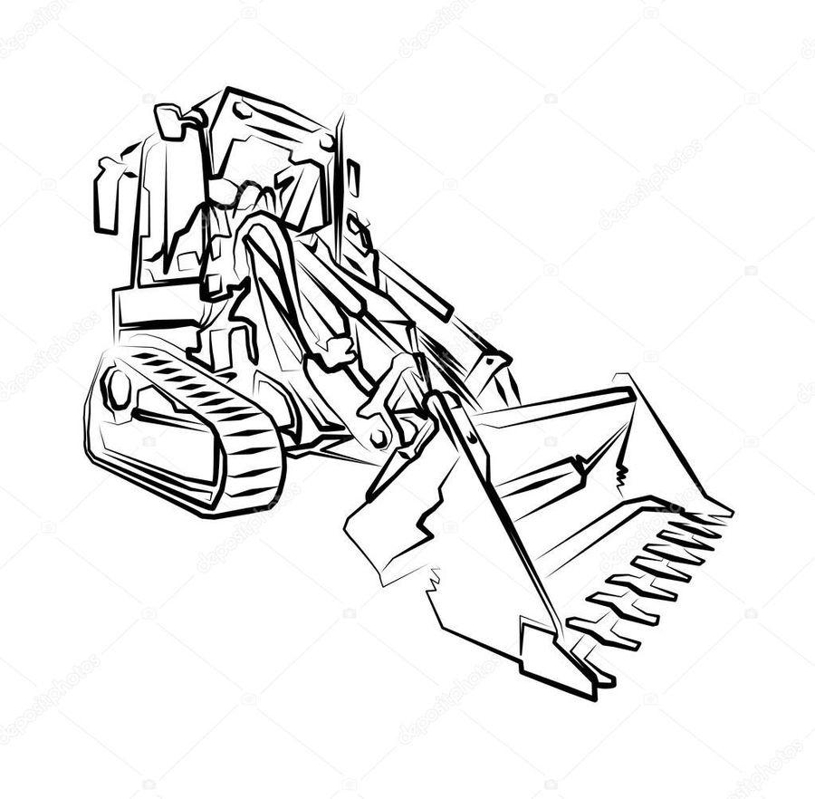 Download . Excavator clipart sketch
