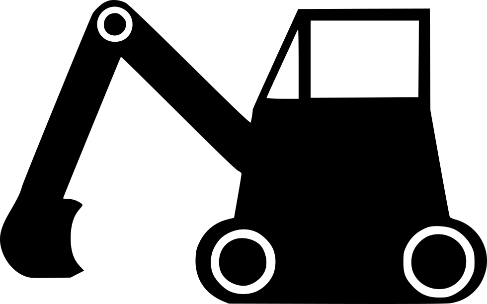 Excavator clipart svg. Bulldozer machine vehicle road