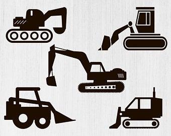 Excavator clipart svg. Etsy