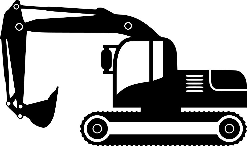 Excavator png icon free. Minivan clipart svg
