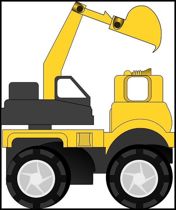 Excavator clipart trackhoe. Backhoe contractor free for