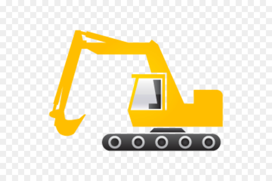 Yellow background bulldozer technology. Excavator clipart transparent