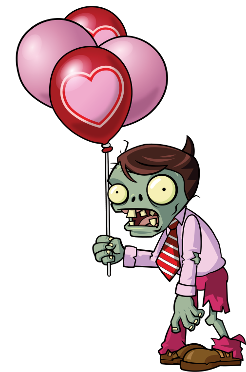 Zombie clipart zombie birthday.  pink balloon