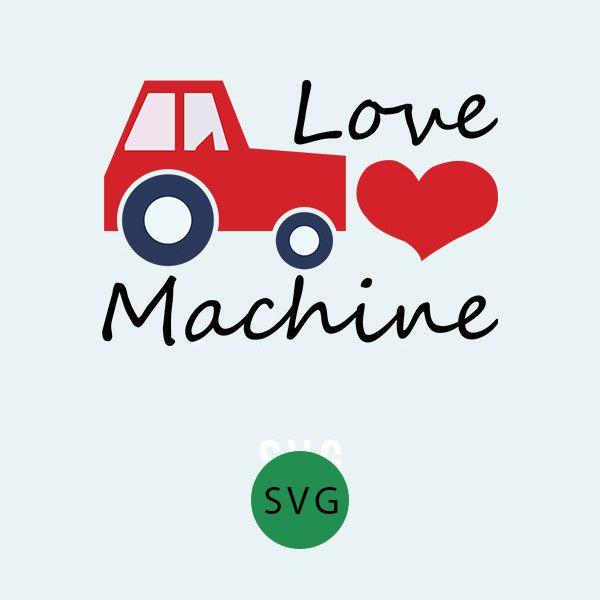 Love machine svg silhouette. Excavator clipart valentine