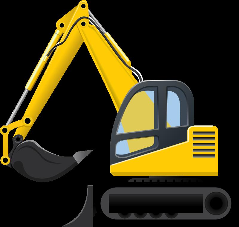 Excavator clip art images. Backhoe clipart digger