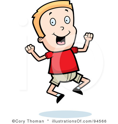 Excited clipart. Boy