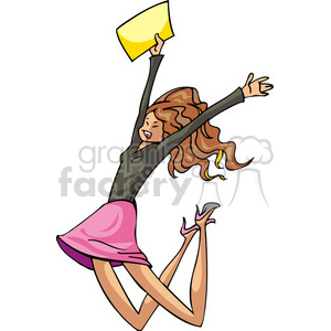 Excited clipart. Royalty free democrat female