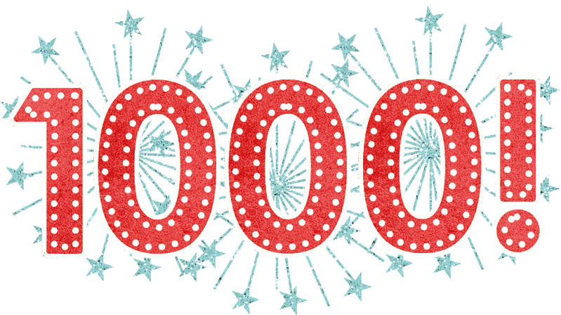 Excited clipart accomplishment. A thousand thanks for