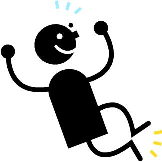 Excited clipart alive. Happy person clip art