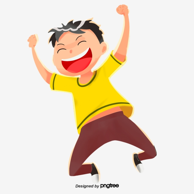 Excited clipart attribute. Cute boy cartoon lovely