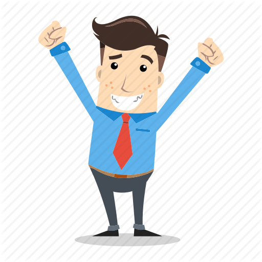 Excited clipart businessman.  action by saeful