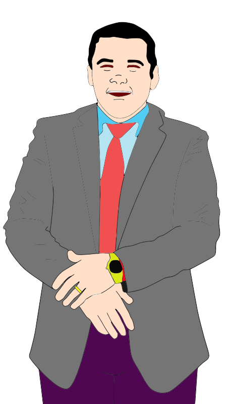 Excited clipart businessman.  collection of happy