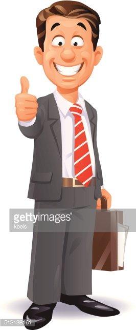 Excited clipart businessman. Happy stock vectors me