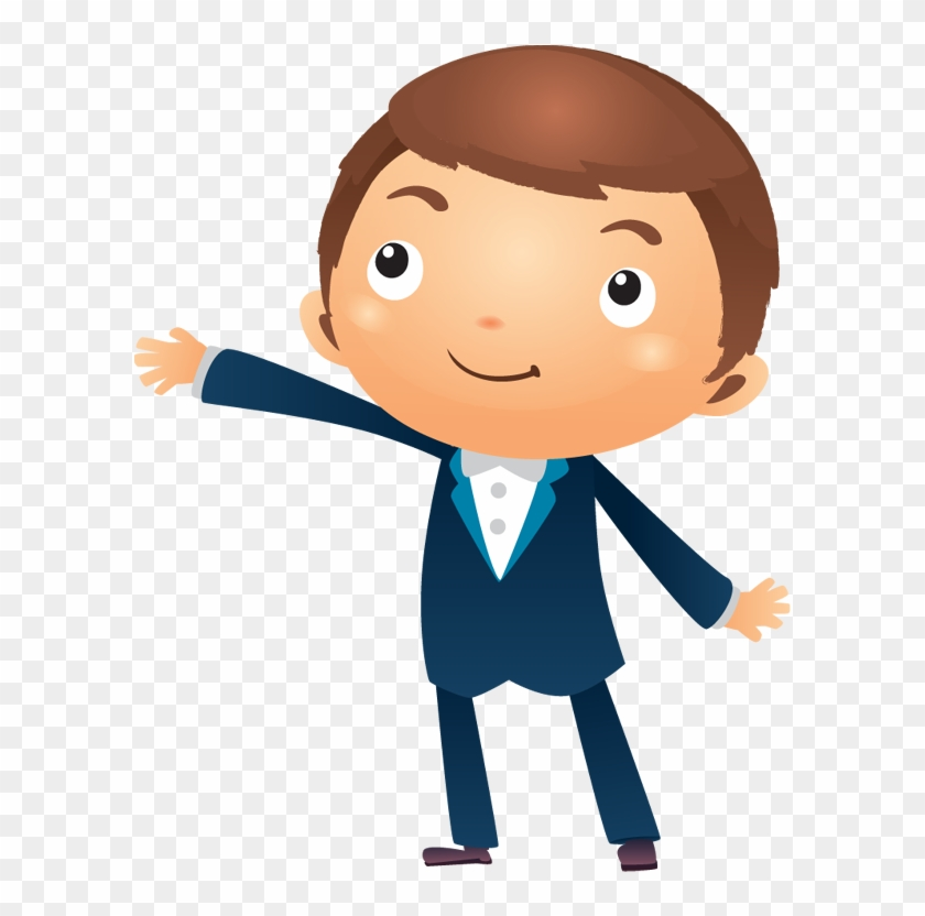 Person thinking cartoon png. Excited clipart businessman