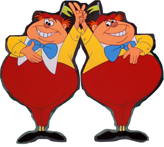 Tweedle dee and dum. Excited clipart delight