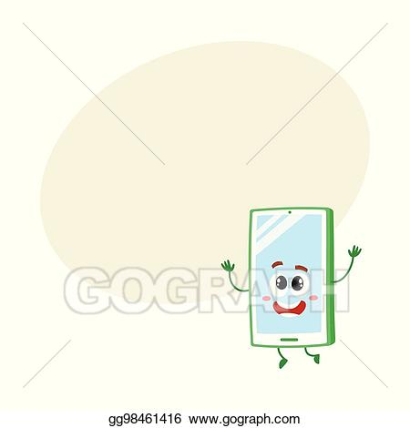 Excited clipart delight. Vector illustration funny cartoon